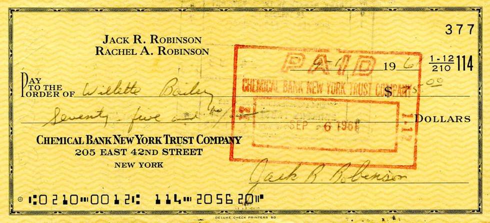 1961 Sept 1, Jackie Robinson