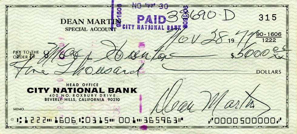 1977 Nov 28 Dean Martin