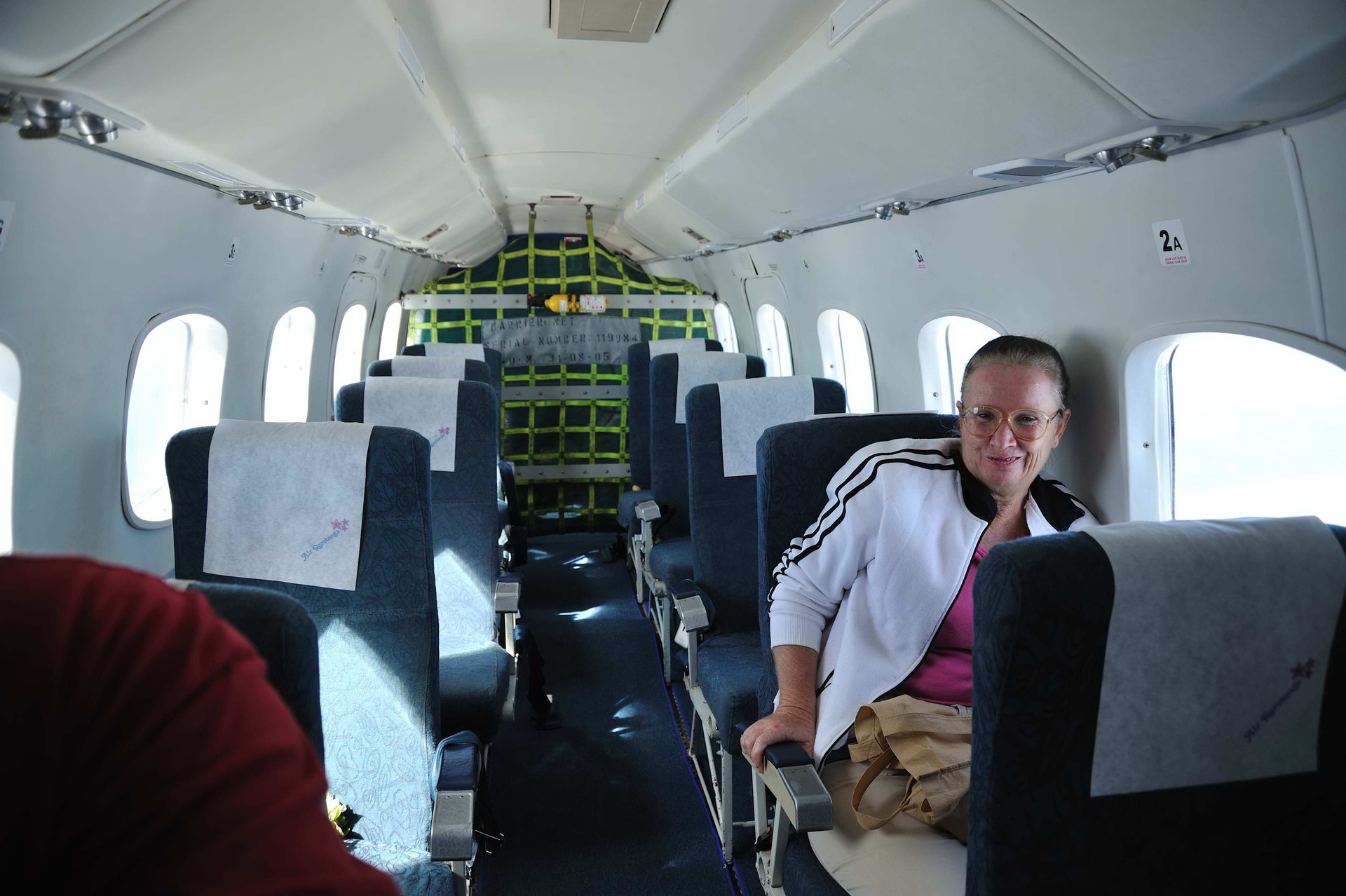 Again, only one person on the flight to Aitutaki