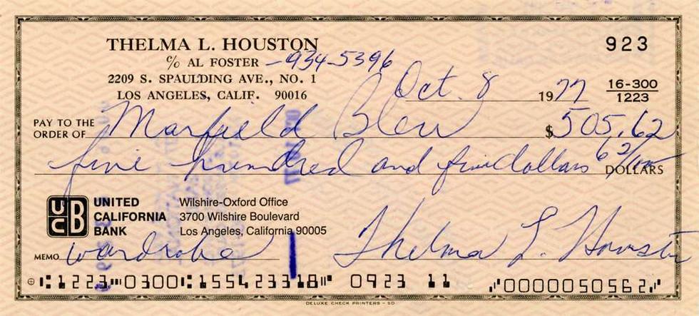 1977 Oct 8 Thelma Houston