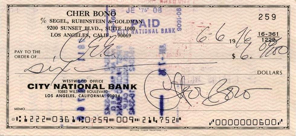 1976 June 6 Cher Bono