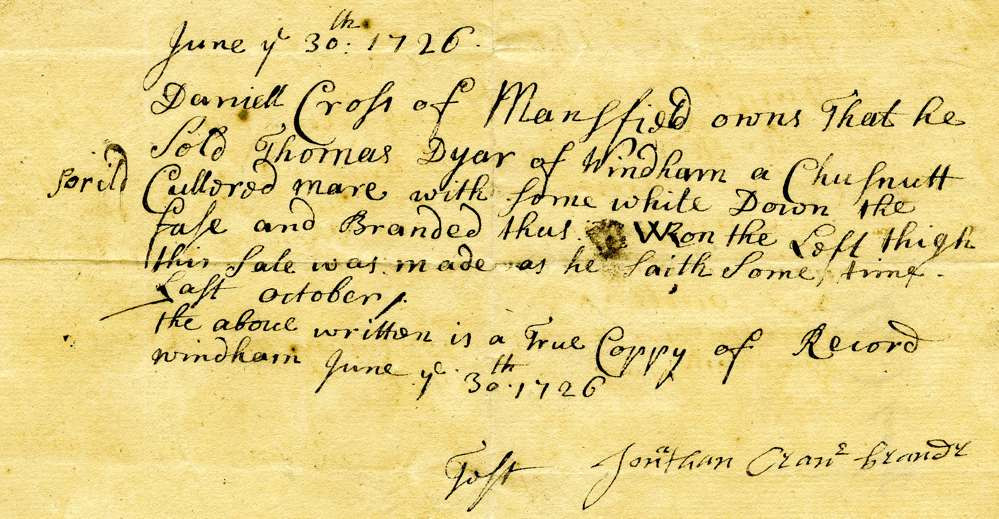 1726 June 30, Lieutenant Jonathan Crane