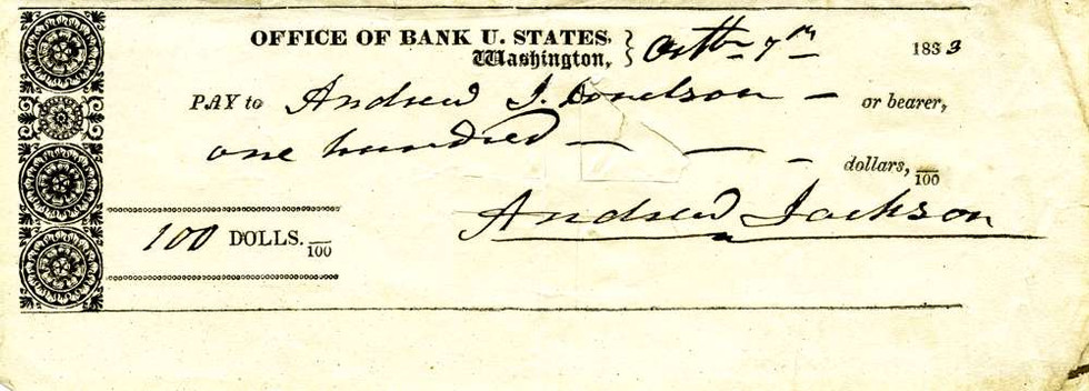 1833 Oct 7 Andrew Jackson