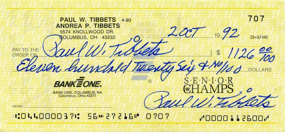 1992 Oct 2 Paul Tibbets