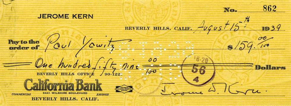 1939 Aug 15 Jerome Kern