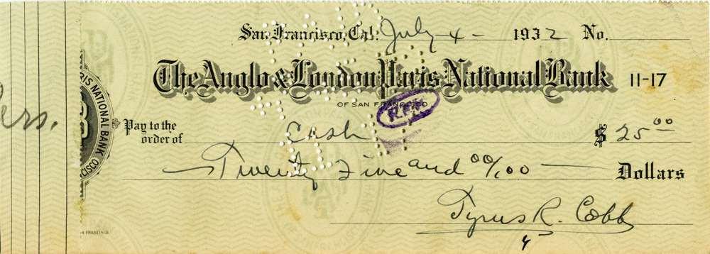 1932 July 4 Ty Cobb