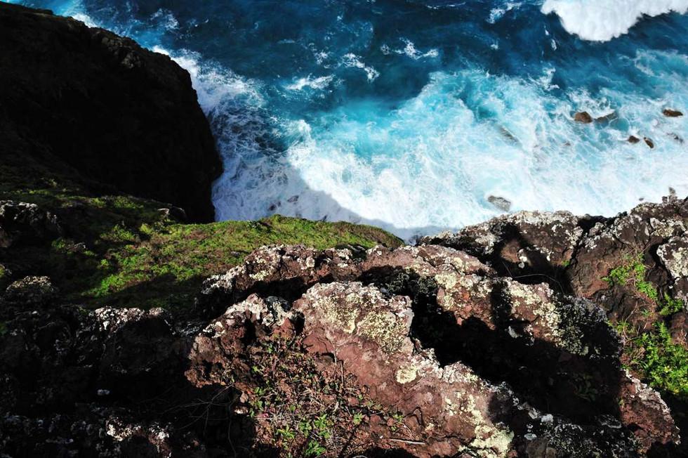 The cliffs near Down Rope.