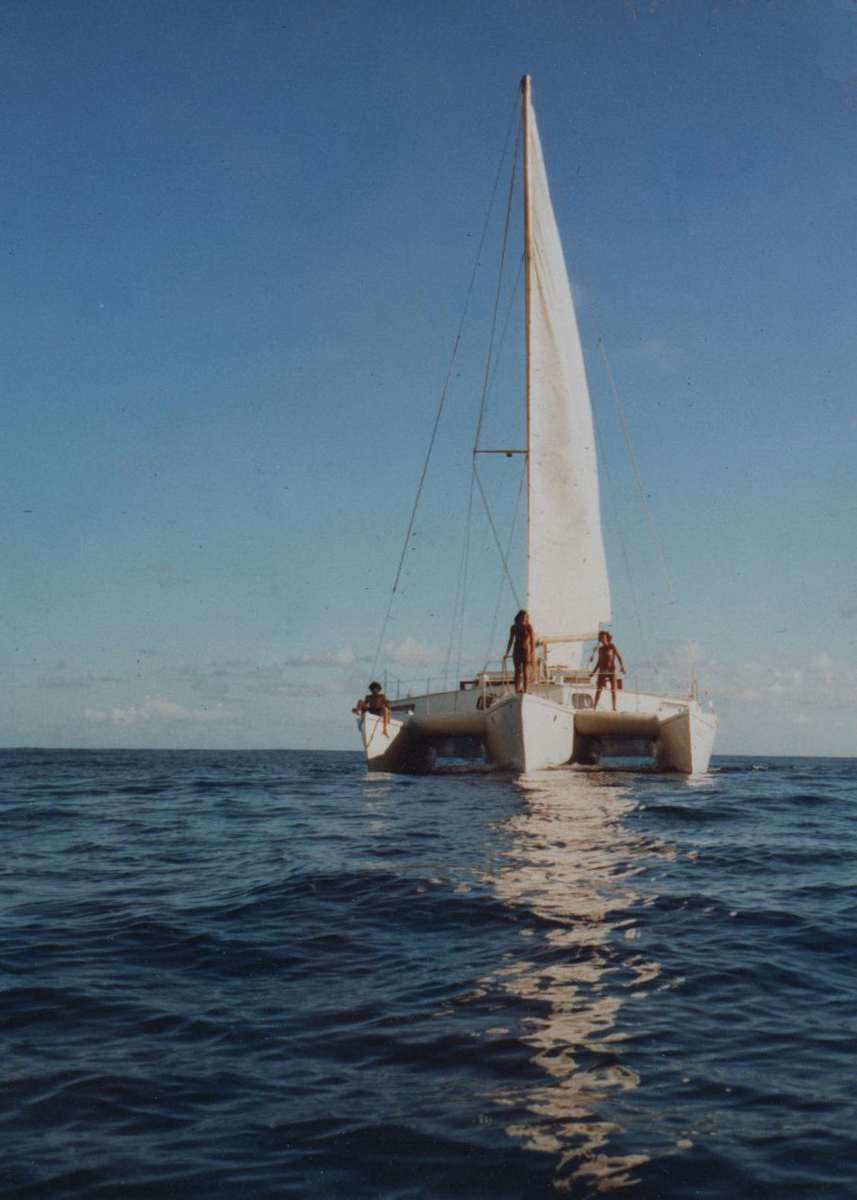 Tony was set adrift in a little inflatable dingy on the Equator between Tahiti and Hawaii to take these pictures
