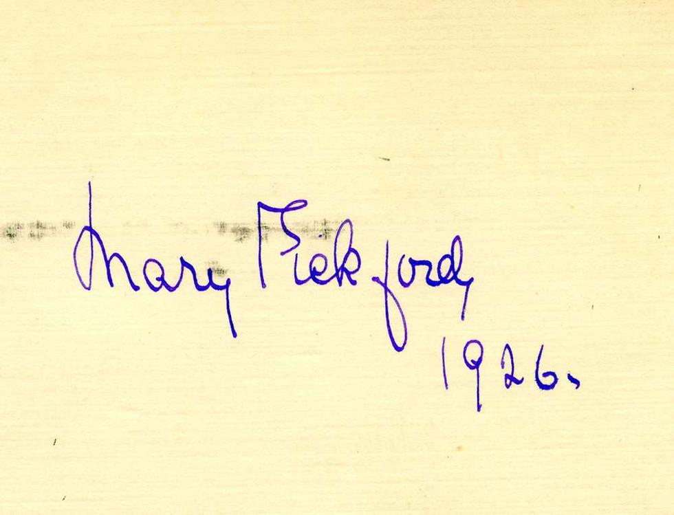 1926, Mary Pickford