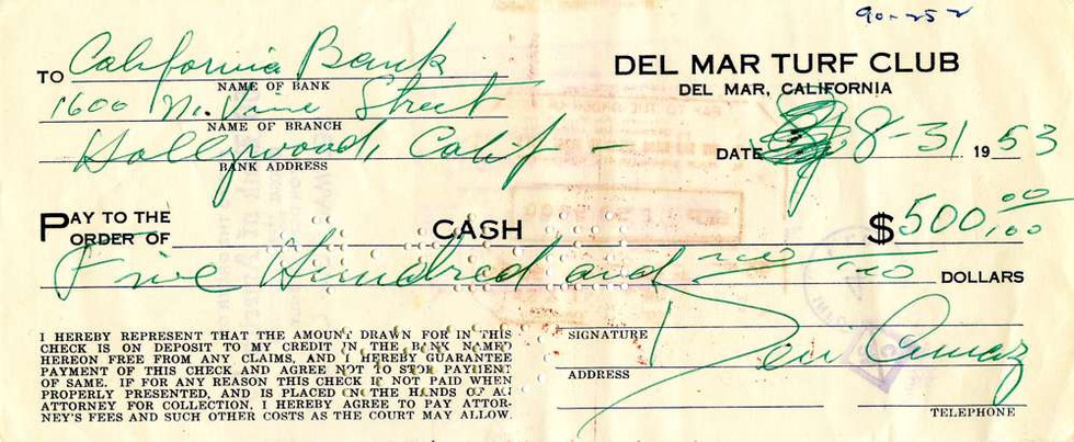 1953 Aug 31, Desi Arnaz