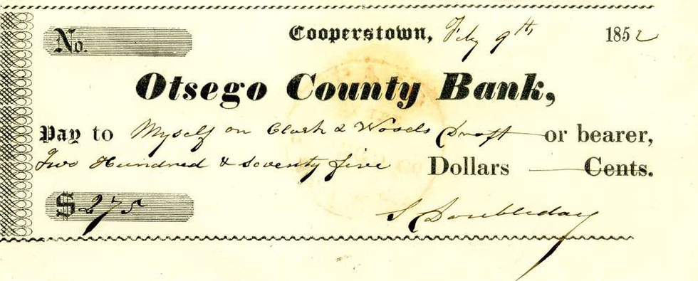 1852 July 9, Doubleday