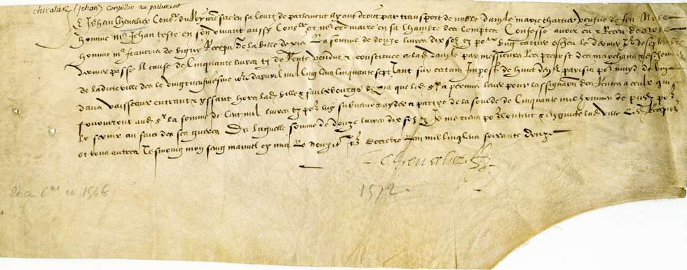 1572 Contract to build a boat