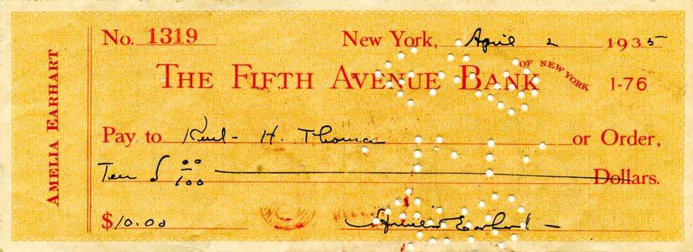 1935 April  2 Emelia Earhart