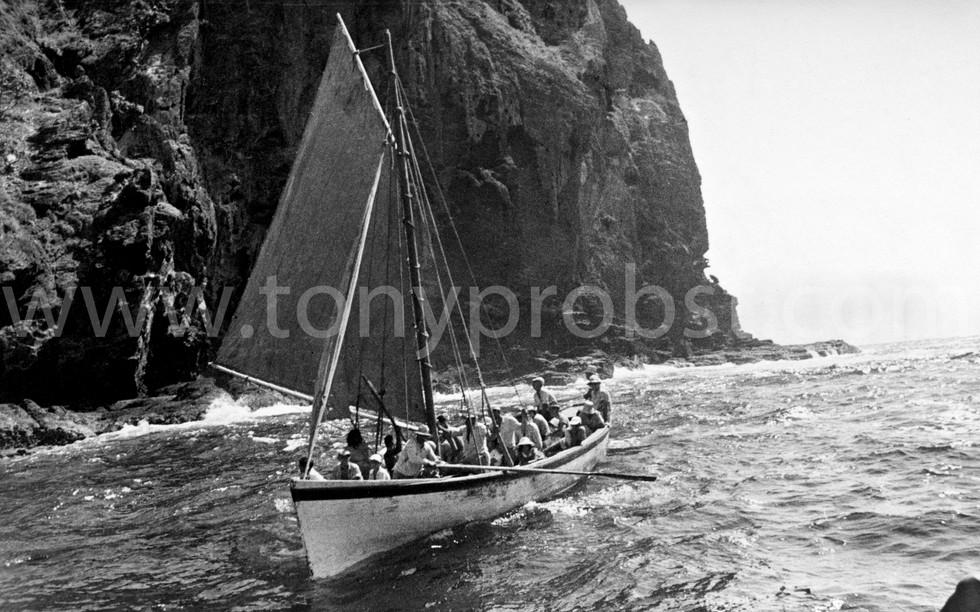 1964 Longboat under sail