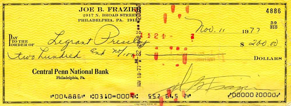 1977 Nov 11, Joe Frazier