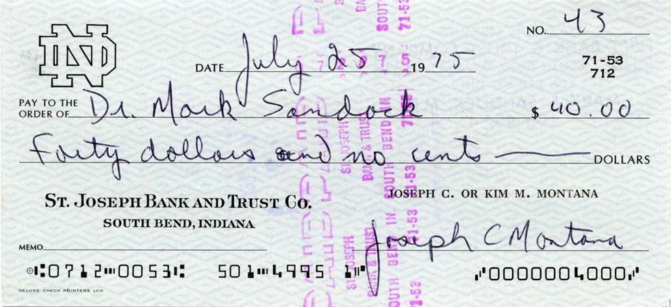 1975 July 25 Joe Montana