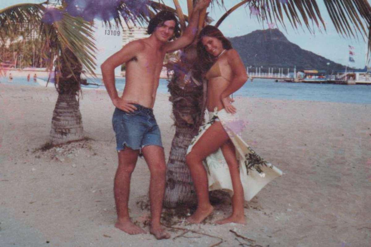 Tony and Andrea on Waikiki Beach April 1977
