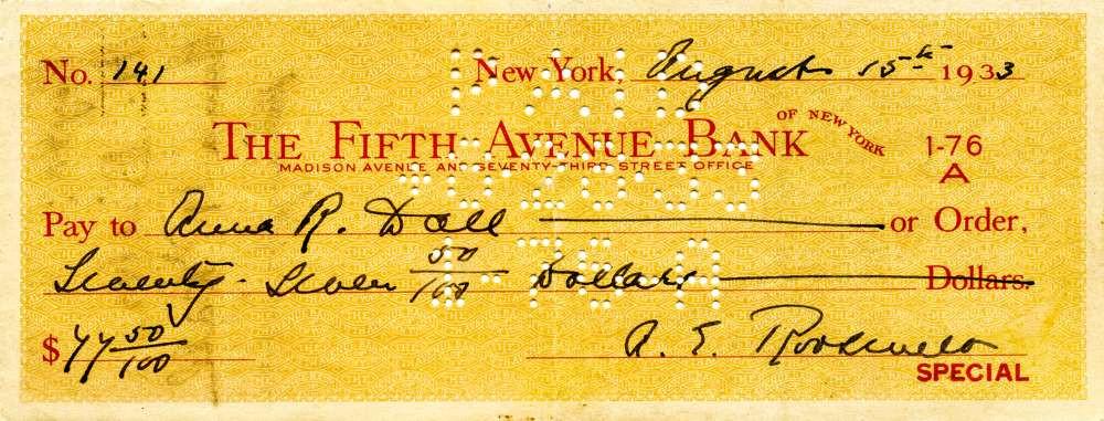 1933 Aug 15 Eleanor Roosevelt
