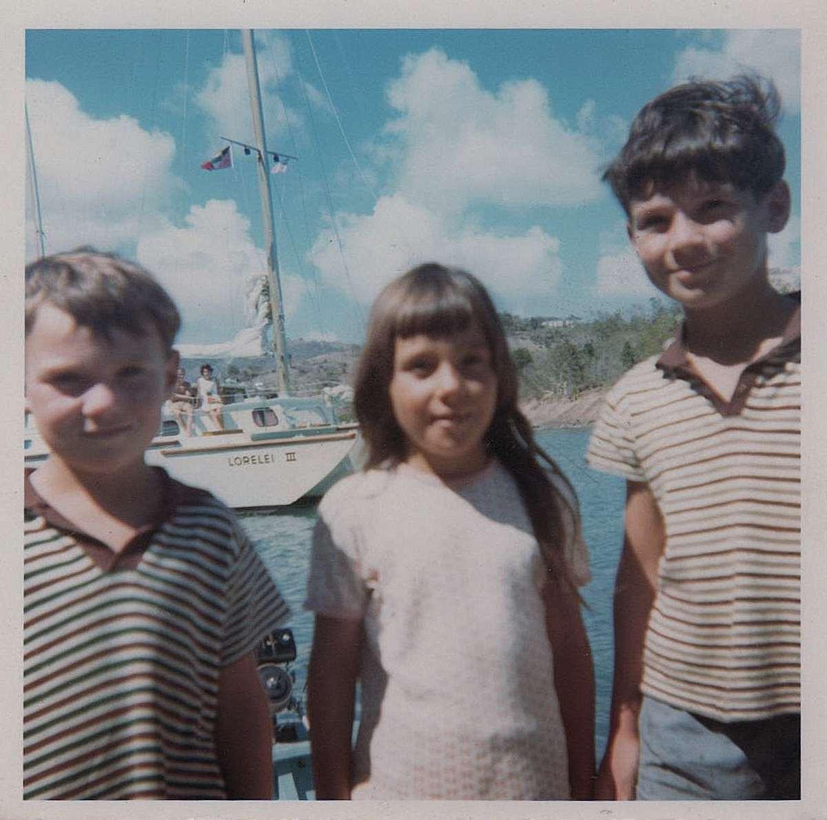 Andrew, Andrea and Tony in Antigua Jan 1968