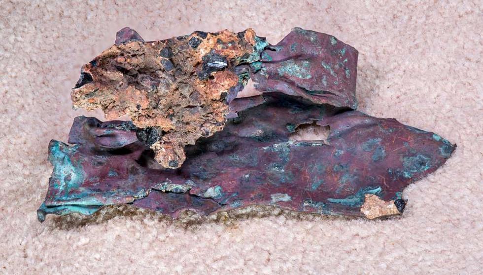 HMS Bounty. Folded Copper sheeting