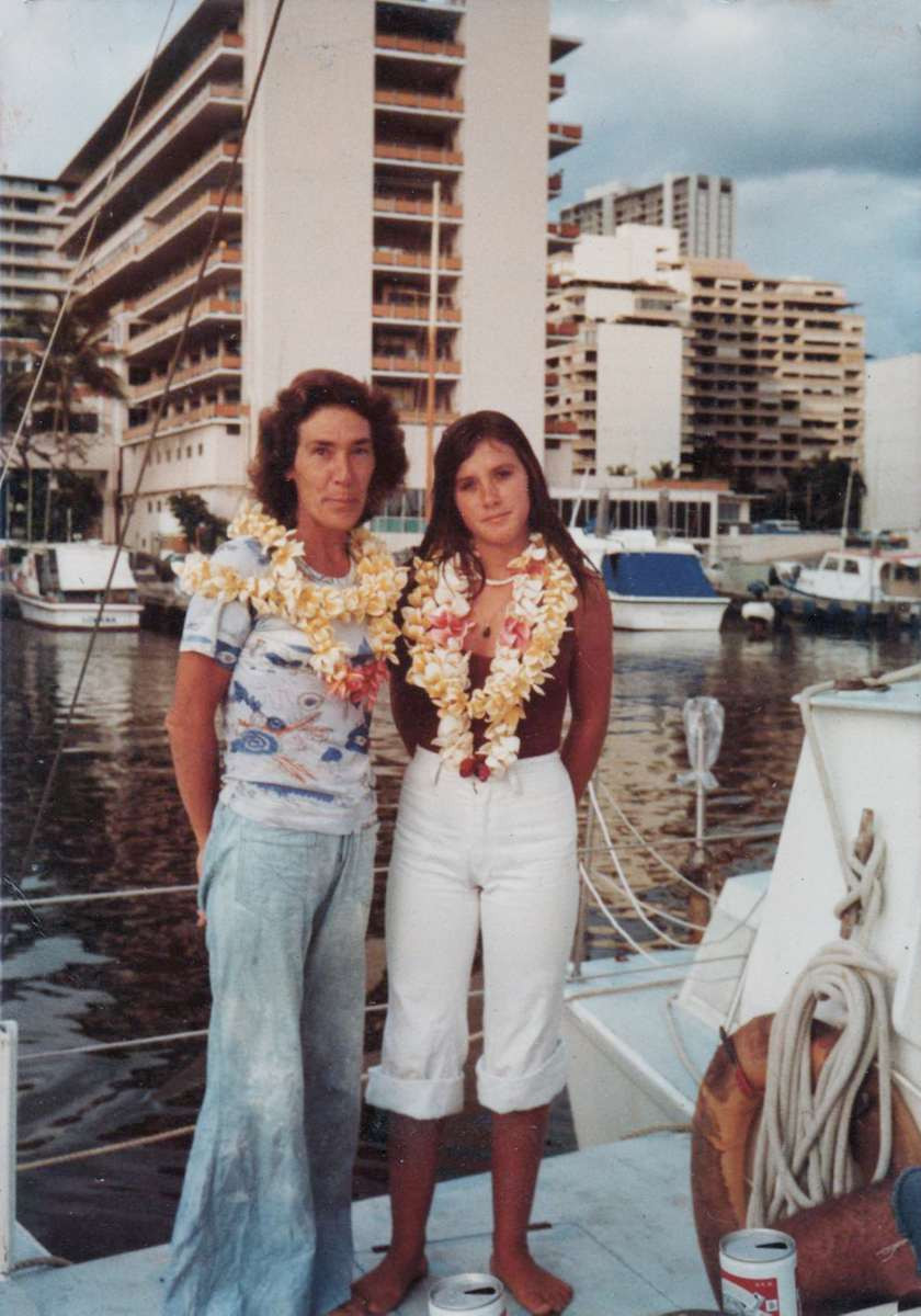 Jean and Andrea in Hawaii April 1977