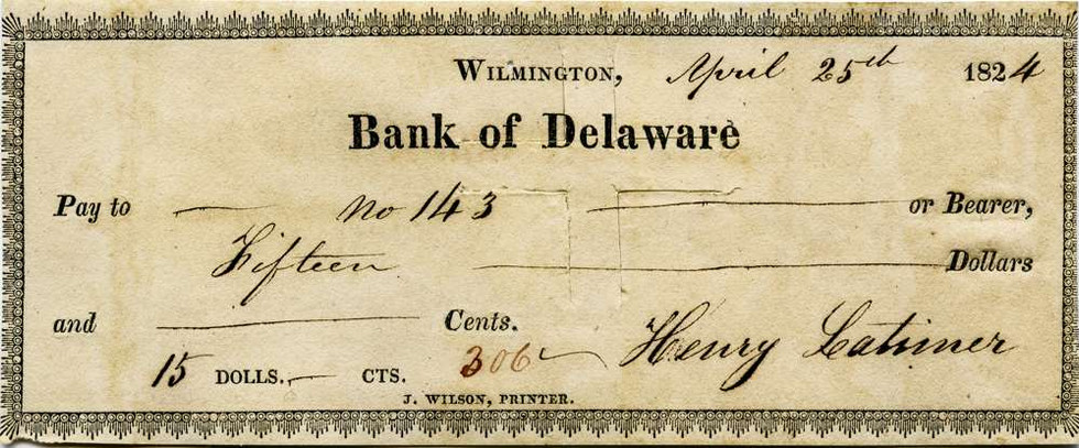 1824 April 25 Henry Latimer Jr to Slave #143