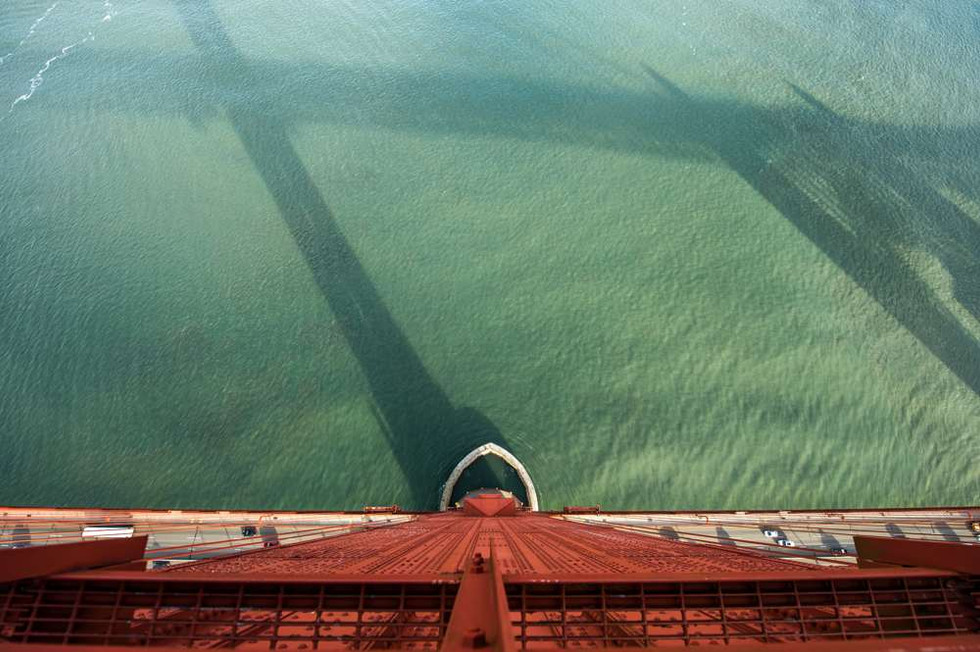 It is a long way down from the top of the Golden Gate Bridge
