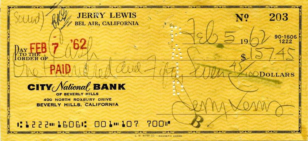 1962 Feb 5 Jerry Lewis