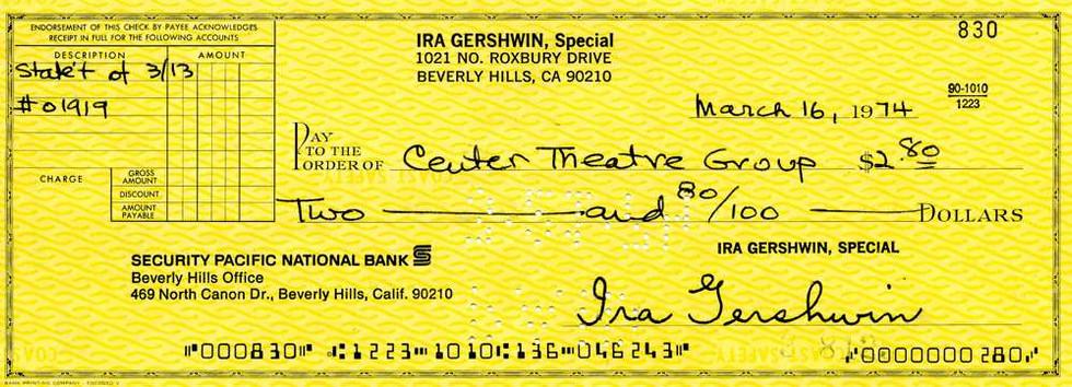 1974 Mar 16, Ira Gershwin