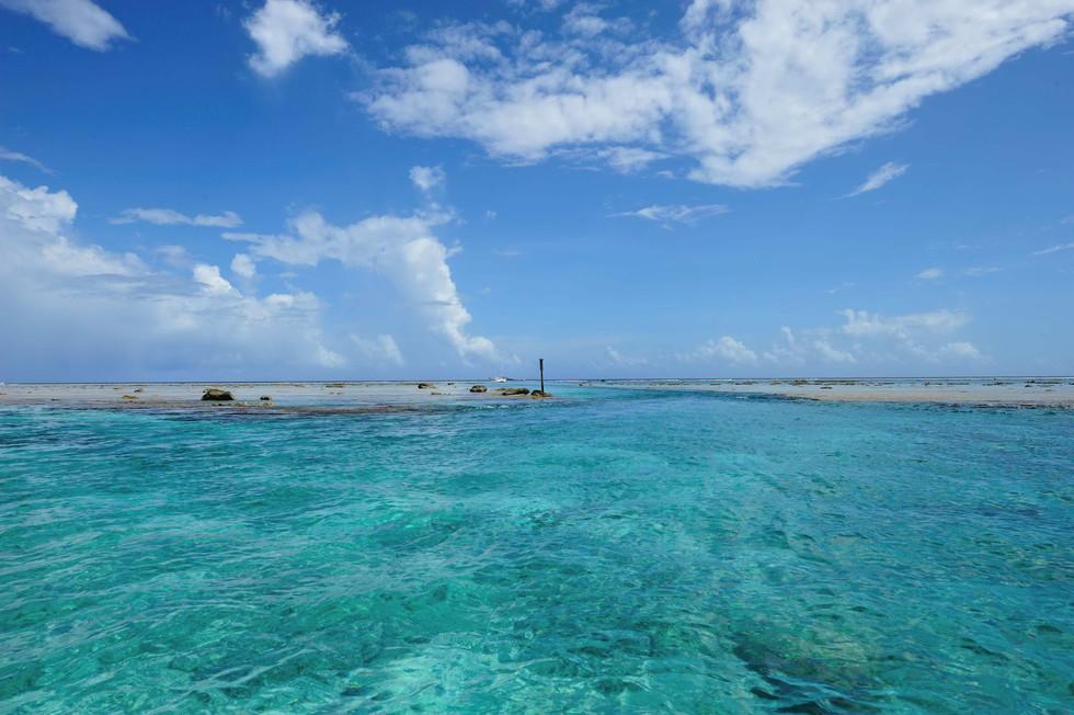 Channel through the reef of Pukapuka