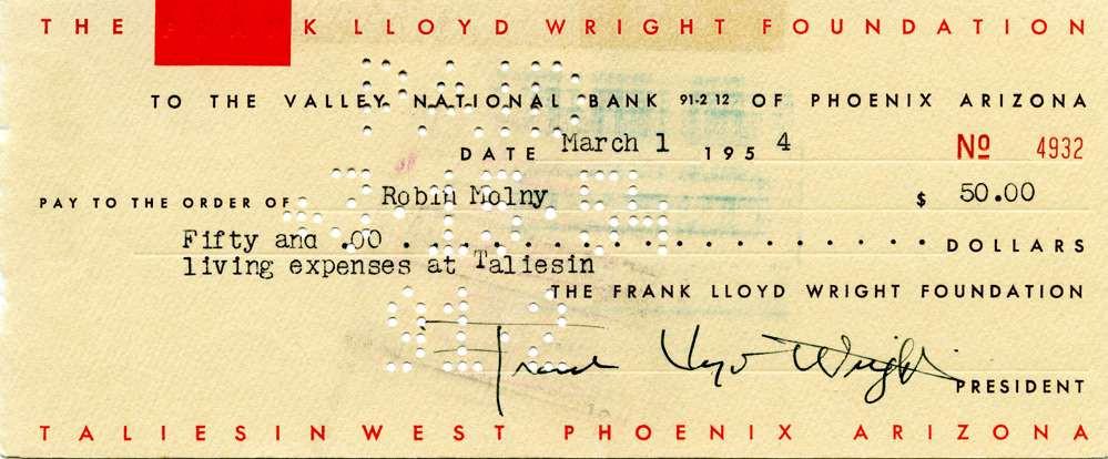 1954 March 1 Frank Lloyd Wright