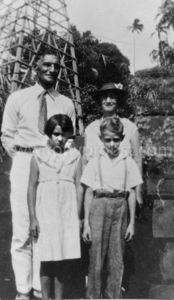 1937 David Christian (very hard worker, may be a Young},  Edna Christian,  Charles Christian (Carol's father) Joyce pronounced Joycie