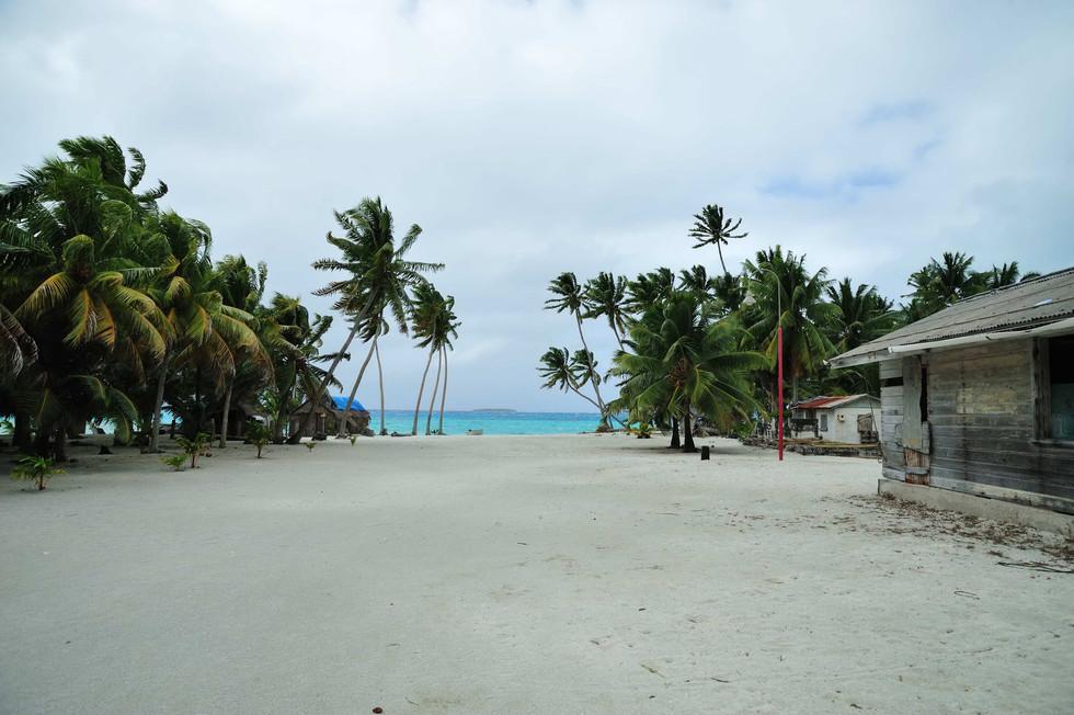 Main street Palmerston Atoll