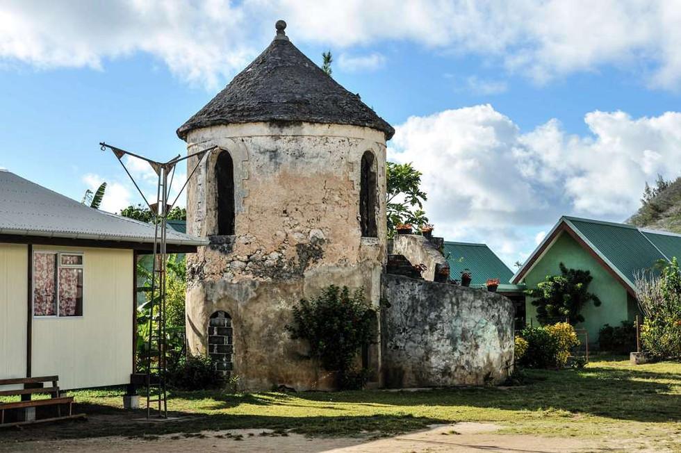 Old architecture Rikitea, Gambier Islands