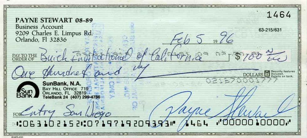 1996 Feb 5, Payne Stewart