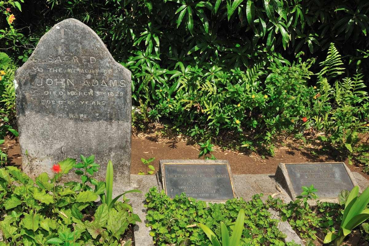 Grave of John Adams, Teio & Hanna Young