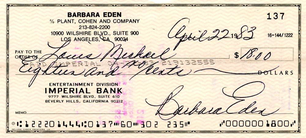 1983 April 22, Barbara Eden