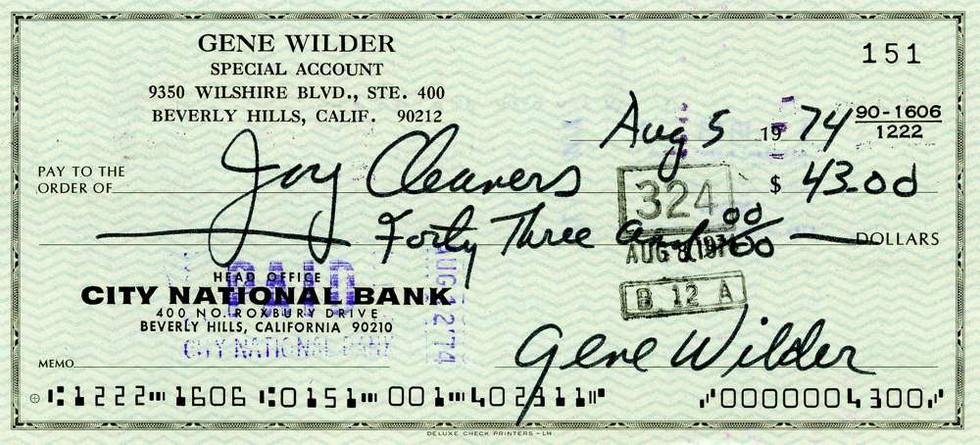 1974 Aug 5. Gene Wilder