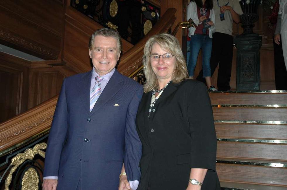 Regis Philbin and Ingrid Probst on Titanic's Grand Staircase