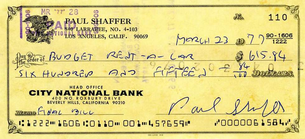 1977 Mar 23, Paul Shaffer