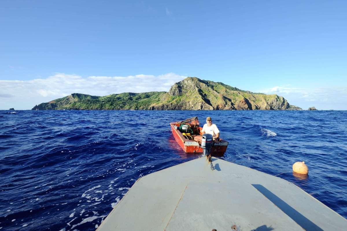 Randy and Dave Chrisian fishing of Pitcairn Island