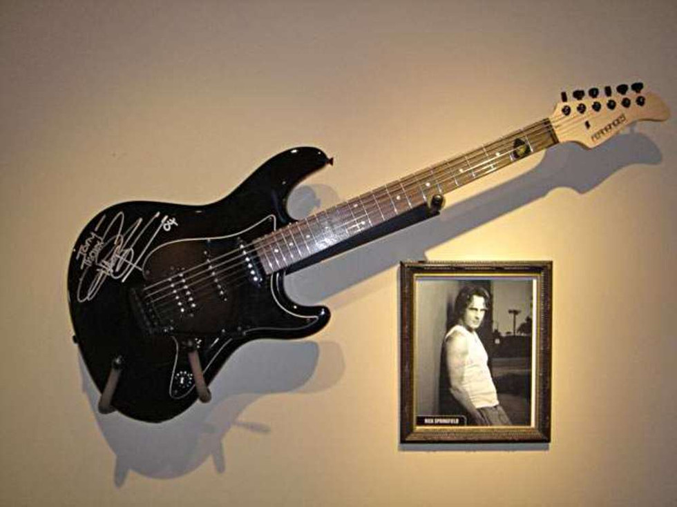 A gift from Rick Springfield another Titanic friend. On display at Audio Video Integration