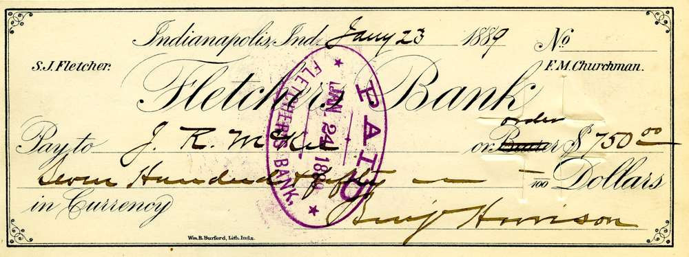 1889 Jan 23, President Harrison
