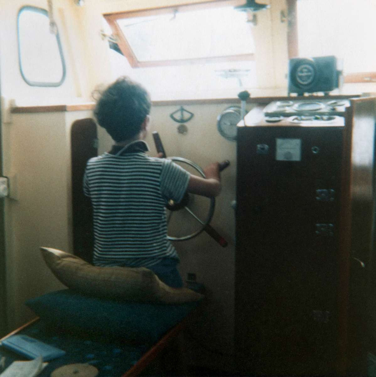 Tony at the helm of Lorelei III