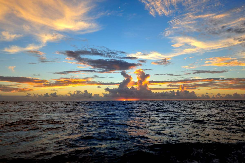 Sunset 60 miles west of Pitcairn Island