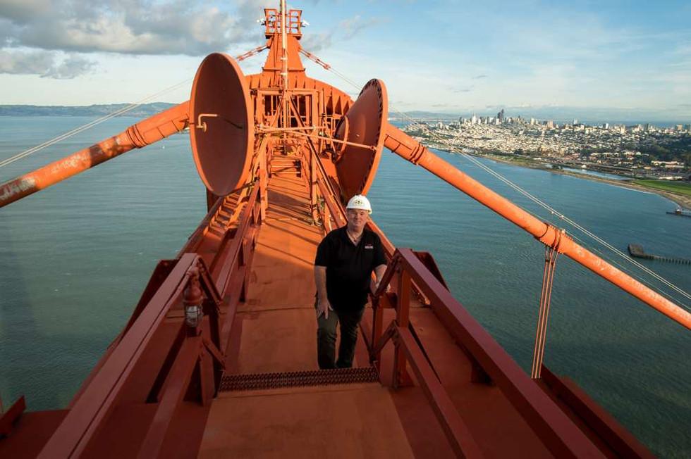 Finally, the top of the Golden Gate Bridge