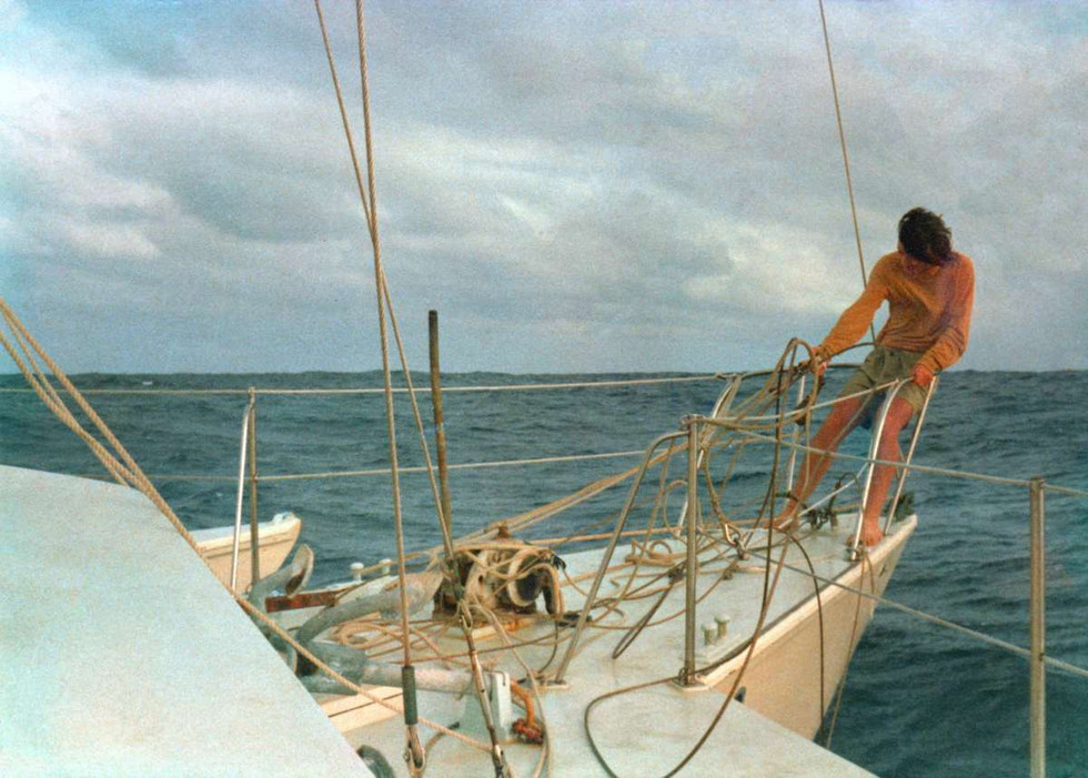 Cleaning up the mess after hitting a whale in the Southern ocean