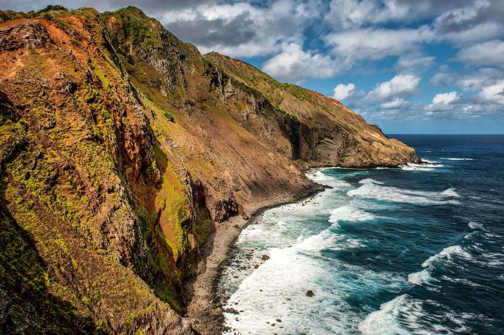 Pitcairn Island. Rugged Shore