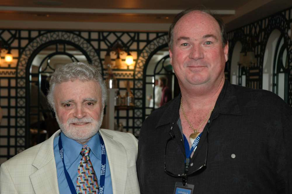 Stanley Lehrer & Tony Probst opening day at the Titanic Museum in Branson, Missouri