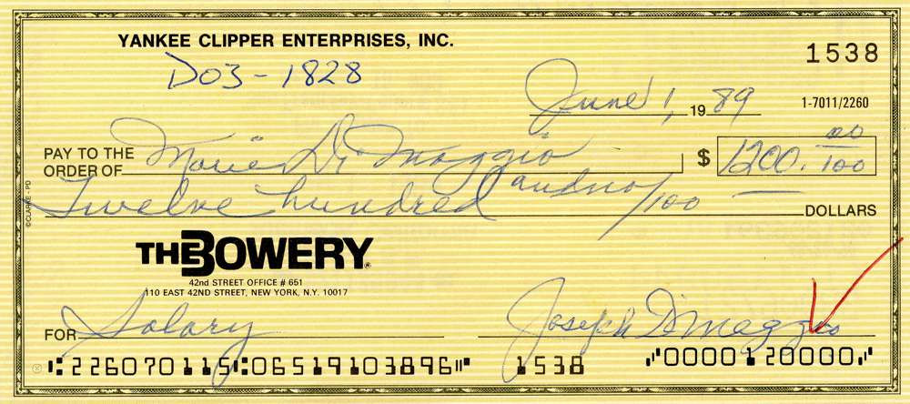 1989 June 1, Joe DiMaggio